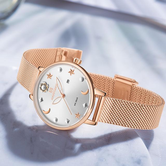 NAVIFORCE Women Watch  with Box Quartz Ladies Watches Stainless Steel Waterproof Women's Wristwatch Girl Clock Set for Sale