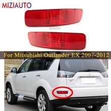 Cauda traseira amortecedor refletor luz para mitsubishi outlander ex 2007 2008 2009 2010 2011 2012 sinal de parada freio nevoeiro refletor lâmpada