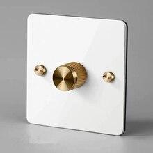 Регулятор яркости белого цвета и металлическая ручка золотого цвета, может работать светодиодный Ной лампой