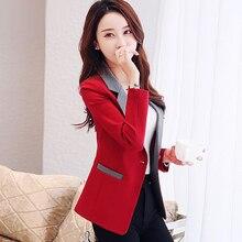 Корейский стиль, офисный женский элегантный тонкий маленький костюм, пальто, новинка 2020, Весенняя мода, на одной пуговице, женские блейзеры и куртки P255