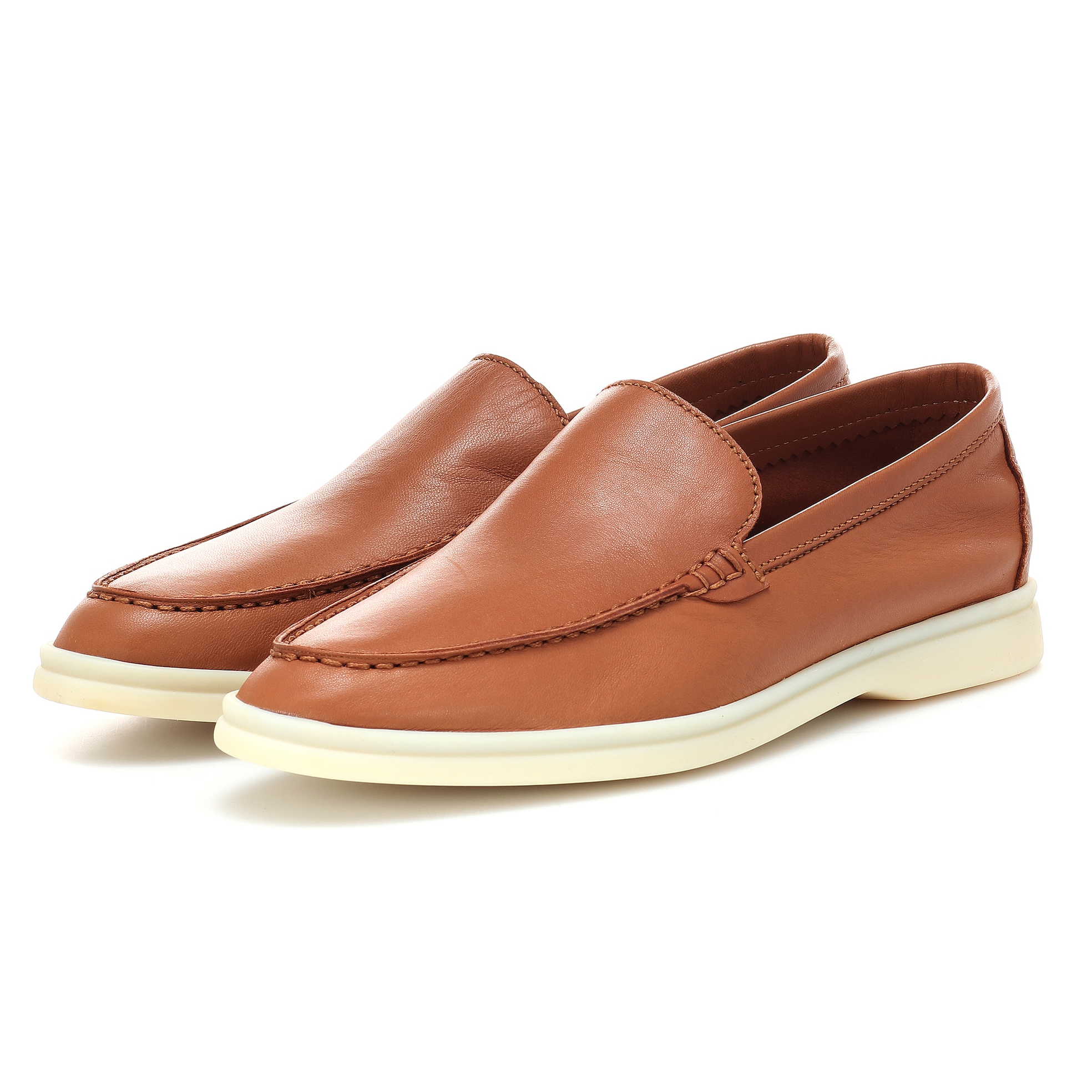 Spring Real Leather Flats Shoes Women Simple Comfortable Slip On Lazy Loafers Causal Walker Shoes Suede Driver Shoes