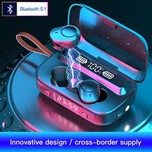 2000 MAh custodia di ricarica TWS auricolare Bluetooth V5.1 9D cuffie Wireless Stereo Sport Mini auricolari impermeabili cuffie