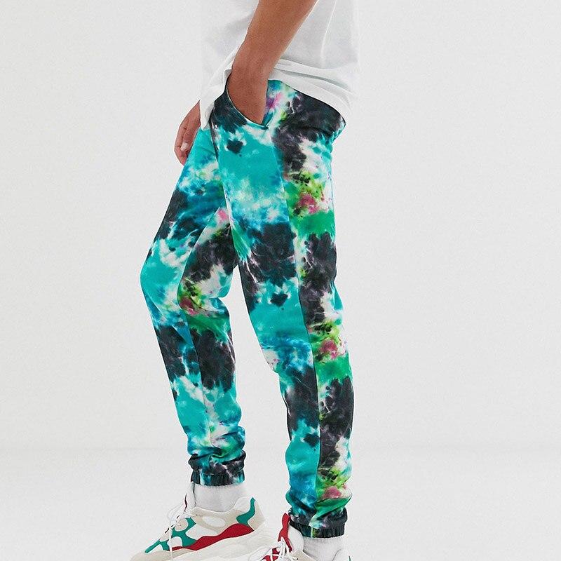 Tie Dye, спортивные штаны для мужчин, синие штаны, камуфляж, хип хоп, Мужские штаны Harajuku, корейские бегуны, мужские летние штаны, уличная мода|Повседневные брюки|   | АлиЭкспресс