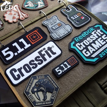 CrossFit 5.11 Military PVC Tactical Patch Embroidery Emblem Applique Iron On DIY Patches For Clothes Hat Backpack Accessories wholesale 50 100 pieces military pvc patches velcro rubber armband 3d tactical badge patches for backpack hat clothes jacket