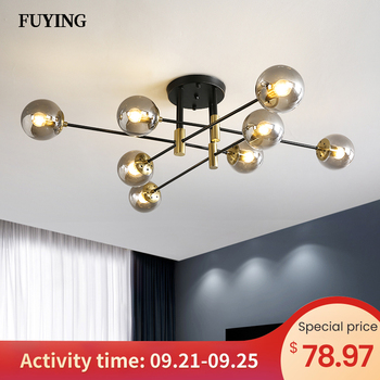 Modern Creative LED Chandelier 5/8/10/12 Lights E27 Round Ball Light Ceilling Lamps Living Room Kitchen Light Decor Indoor Light