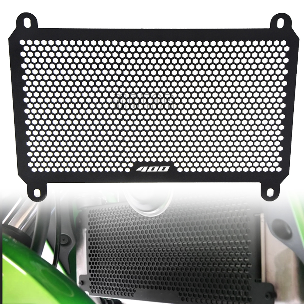 Radiator Grille for NINJA 400 Z400 NINJA 250 Z250 2018 2019 Radiator Cover Xitomer Aluminum Radiator Guard Black