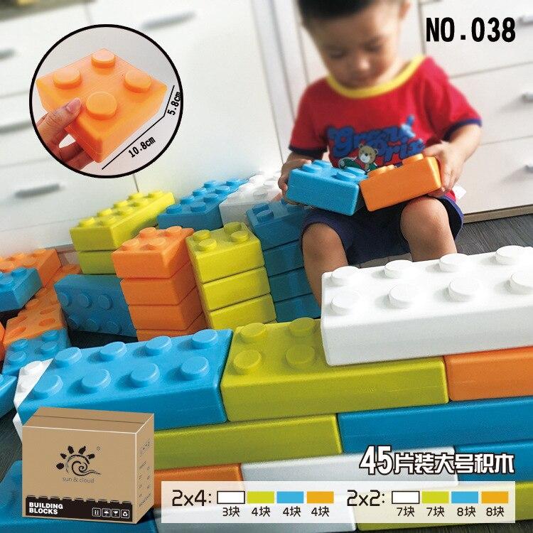 New Furniture Style Building Block Kindergarten Scene Large Size Building Blocks Children's Early Educational Toys Brick Castle