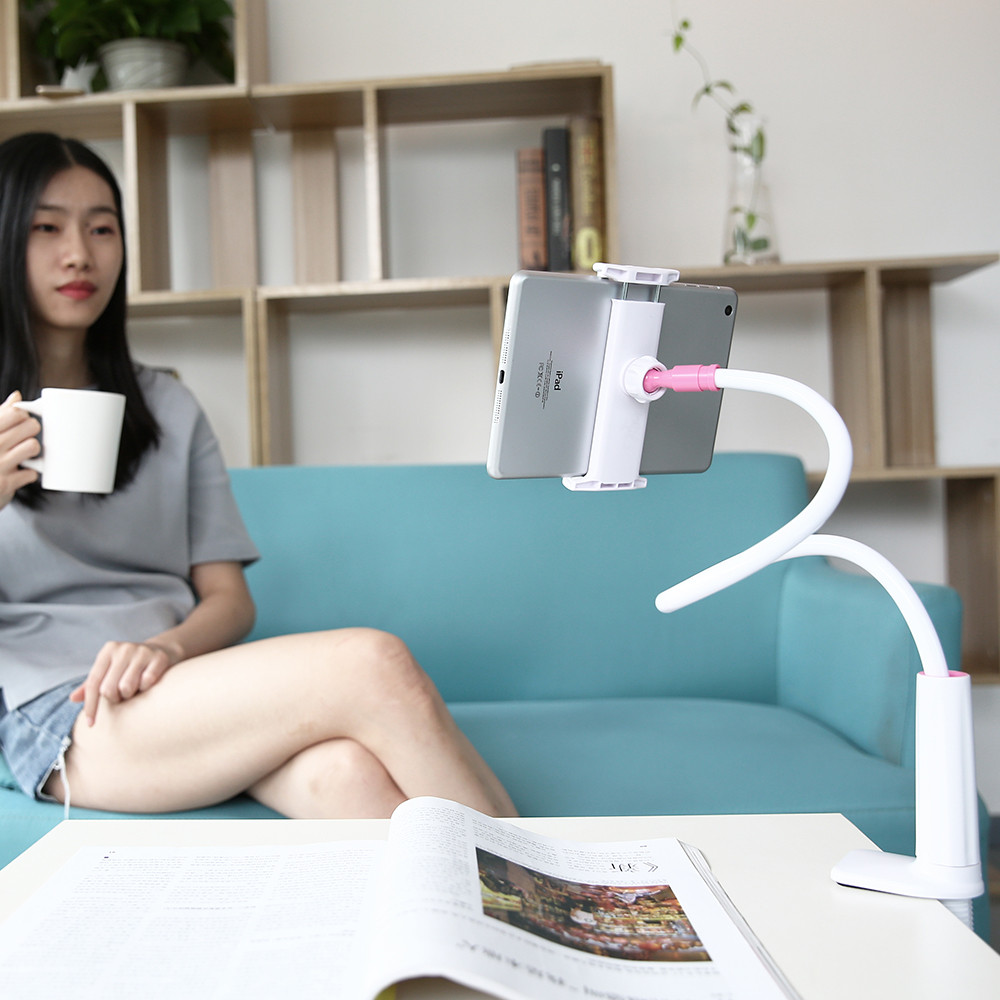 Practical Flexible Rotate Long Arm Lazy Phone Holder Tablet Mount Bracket Stand Holder For Desk Bed Clip Office Home Strong 2019