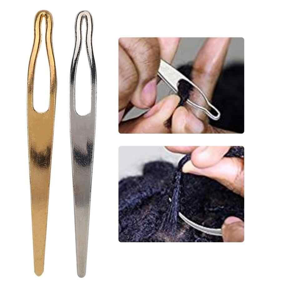 Dreadlocks 2 peças de Ouro e Prata de Partida Agulha Gancho Agulha de Tecelagem DIY Tomada de Peruca Ferramentas Styling Acessórios de Cabelo