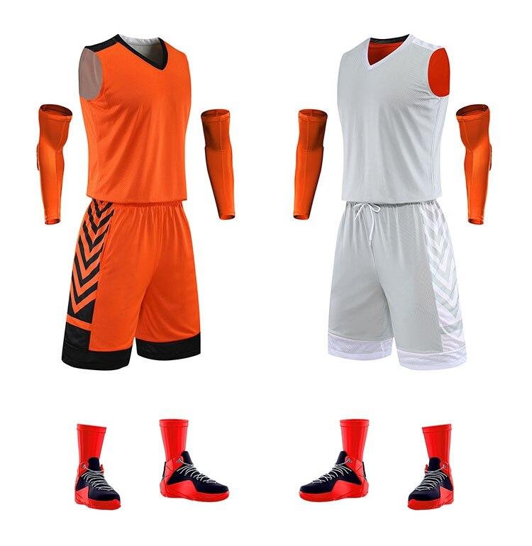 de basquete faculdade reversível esporte camisas shorts