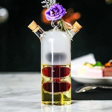 Utensils Wine-Glasses Double-Tube-Bottle Creative Personalized Hanging One-Pot Two-Different-Cocktail