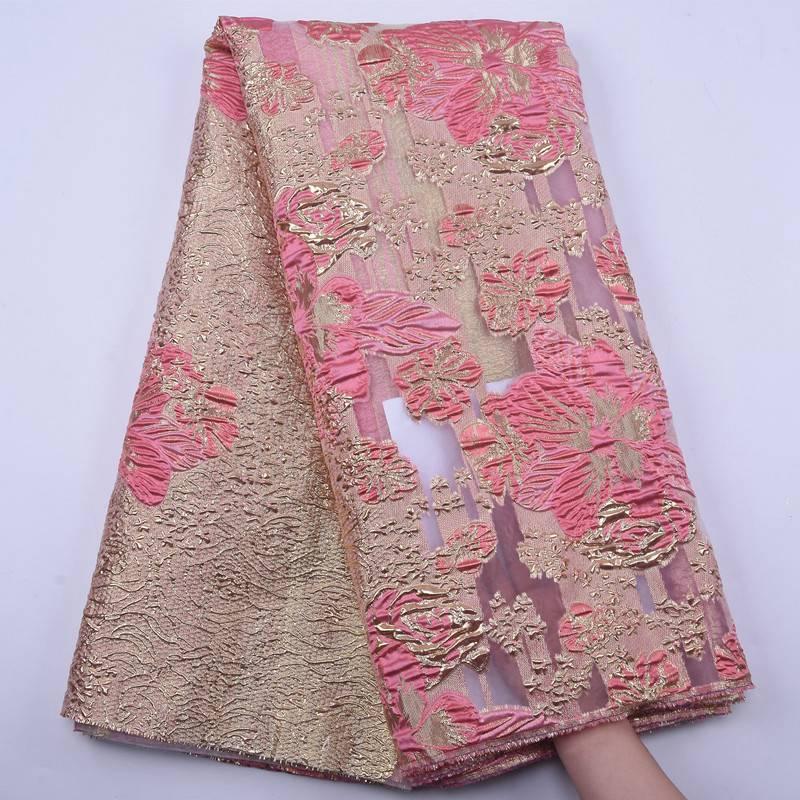 Dernière dentelle française tissu 2020 haute qualité Tulle dentelle doré rose africain dentelle tissu nigérian mariage français Tulle dentelle S1880