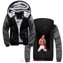 Фредди Меркурий толстовки рок панк хип хоп стиль Harajuku уличная Зимняя шерстяная куртка утепленная толстовка