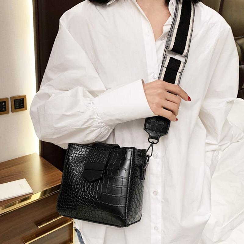 Bucket Bas For Women 2020 Crossbody Shoulder Bag Ladies Totes Stone Pattern Women Handbag And Purse Female Bolso Messenger Bag