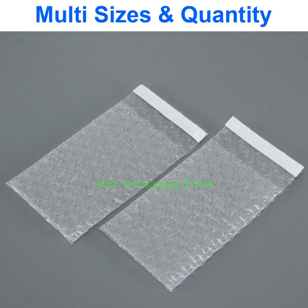 Self Seal Clear Bubble Bags Poly Envelopes Packing Pouch (Width 2.5