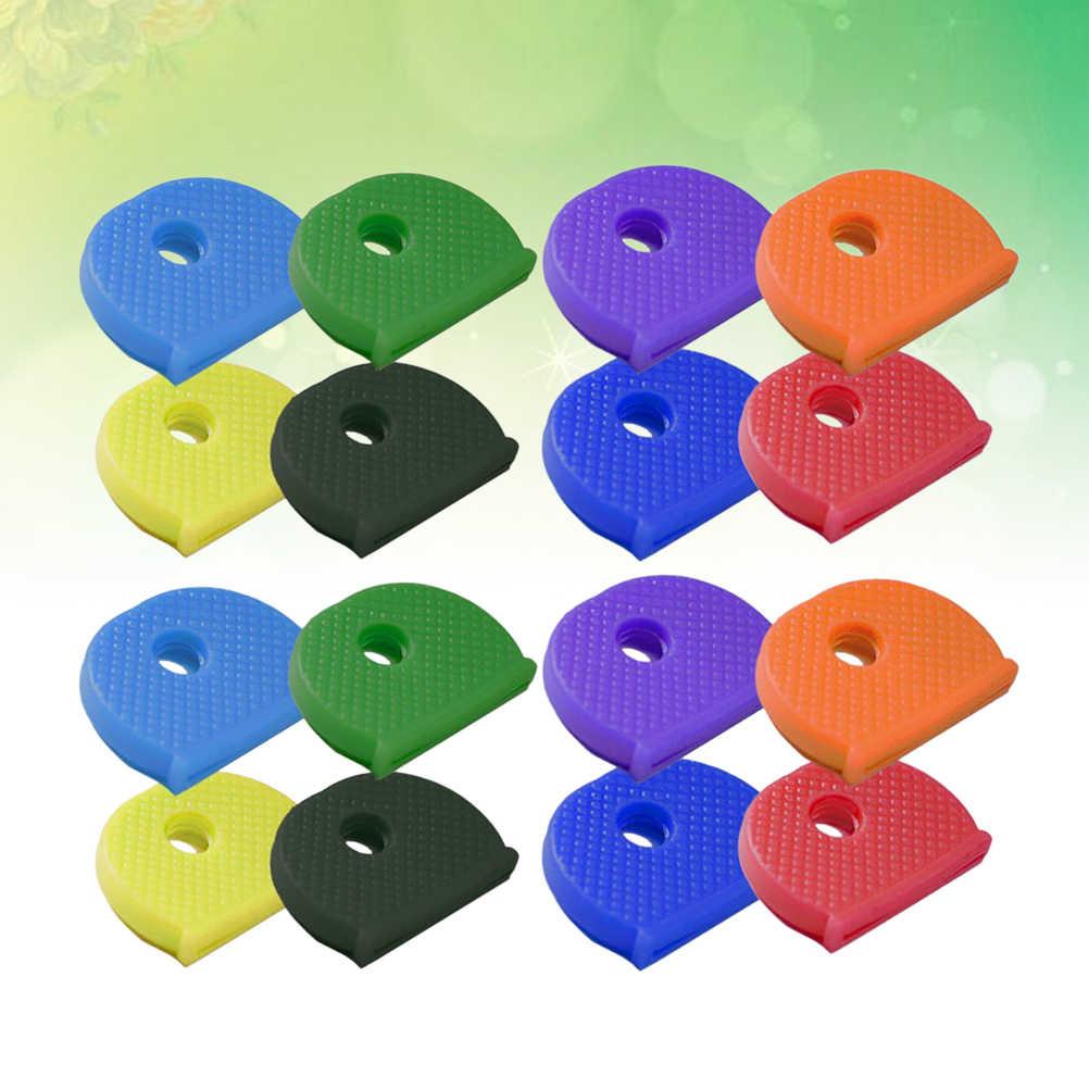 24 Chiếc Chìa Khóa Mũ PVC Các Loại Màu Chìa Khóa Hãng Thẻ Có Định Danh Thẻ Có Định Danh Mũ Nắp Phím
