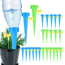 3 6 12PCS Automatic Drip Irrigation Tool Spikes Automatic Flower Plant Garden Watering Kit Adjustable Water Self-Watering Device cheap CN(Origin) 101514 Plastic Watering Kits