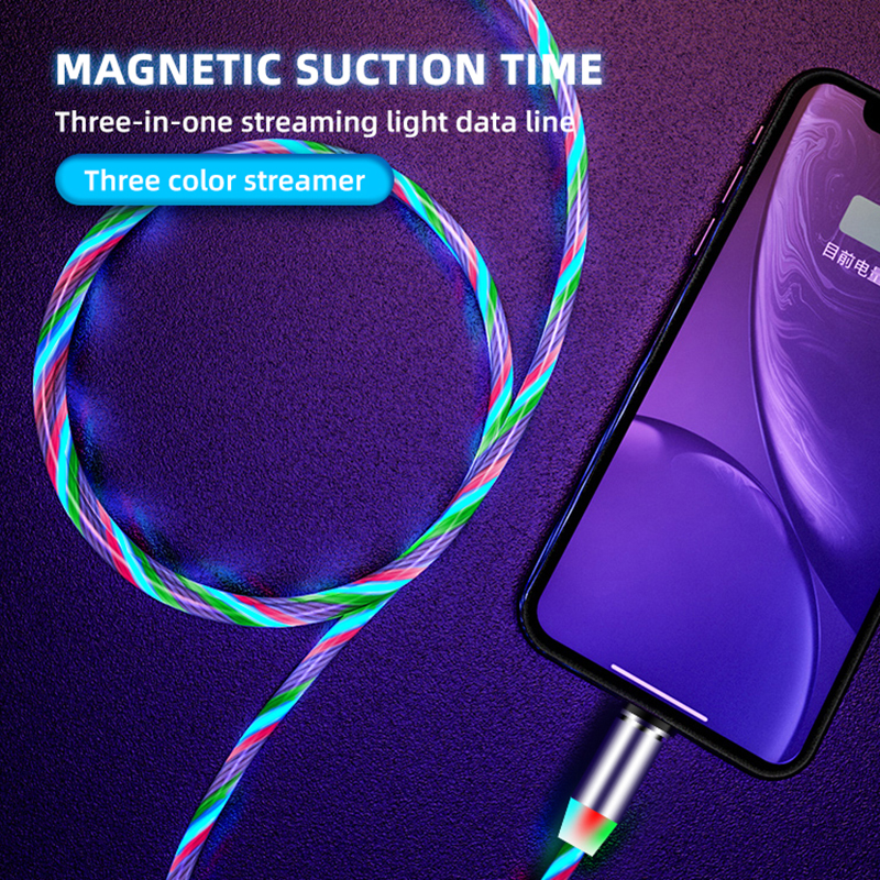 Glow LED Fast Magnetic USB charger for both iphones and Androids  6