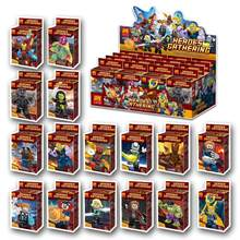 16 Stks/set Mini Super Heroes Blokken Avenger Infinity War Man Thanos Batman Spider Gamora Anime Cijfers Bouwstenen Ninja Speelgoed(China)