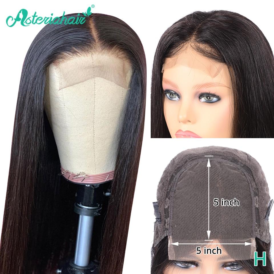 Asteria Straight Hair 5x5 Lace Closure Wigs For Black Women Brazilian 6x6 Human Hair Wigs 130 150 Density High Ratio Remy Hair