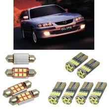 Интерьерные Светодиодные Автомобильные лампы для Mazda 626 mk5 gf хэтчбек седан-станция wagon gw estate лампы для автомобилей свет номерного знака 6 шт