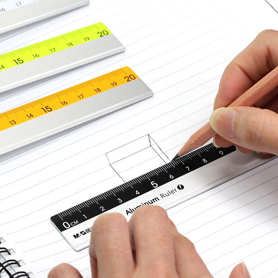 Cute Cartoon Pattern Aluminum Alloy Metal Ruler Straight Rulers For School Office 30cm  Drawing Tool Metal Rulers