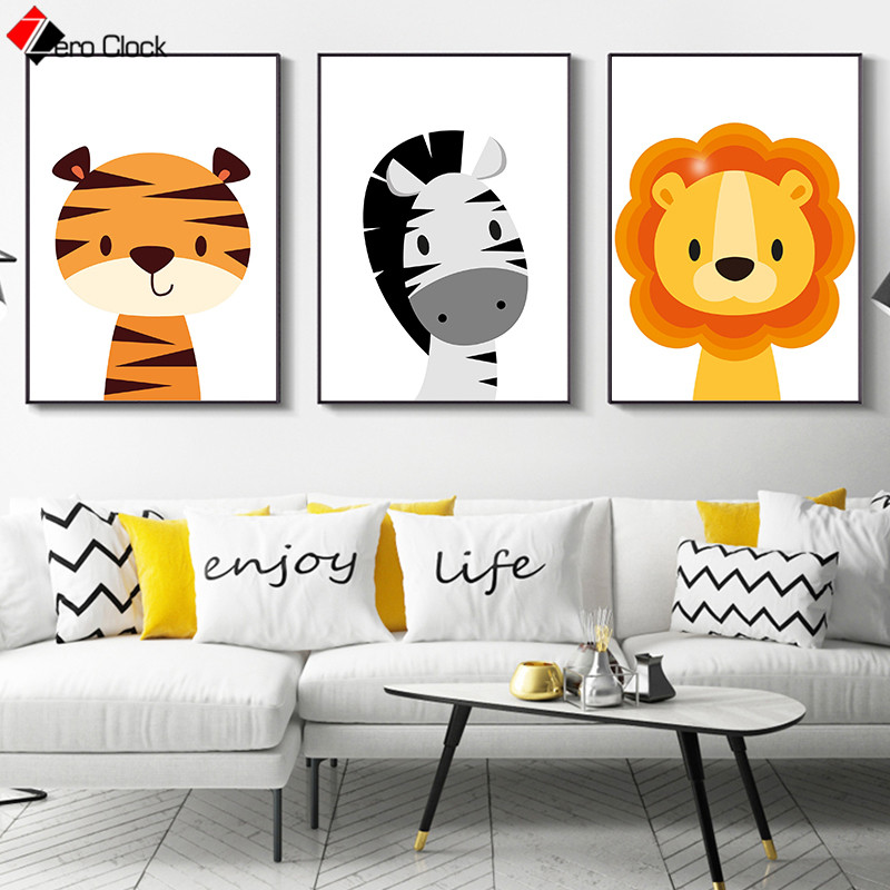 Canvas Painting Nursery Wall Art
