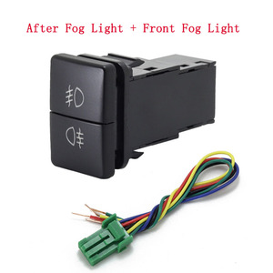 Image 5 - 1 adet çift anahtar anahtarı çift anahtarı sis işık kaydedici radar güç kaynağı gündüz çalışan ışık anahtarı düğme Toyota için yeni