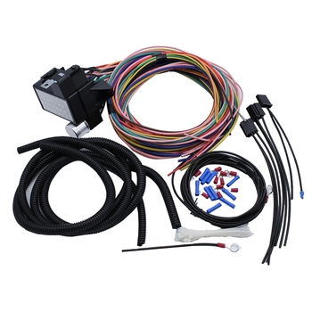 14 Circuit Universal Wiring Harness Kit for Muscle Car Hot Rot Wiring Street Rod Rat Rod for Ford Chevy