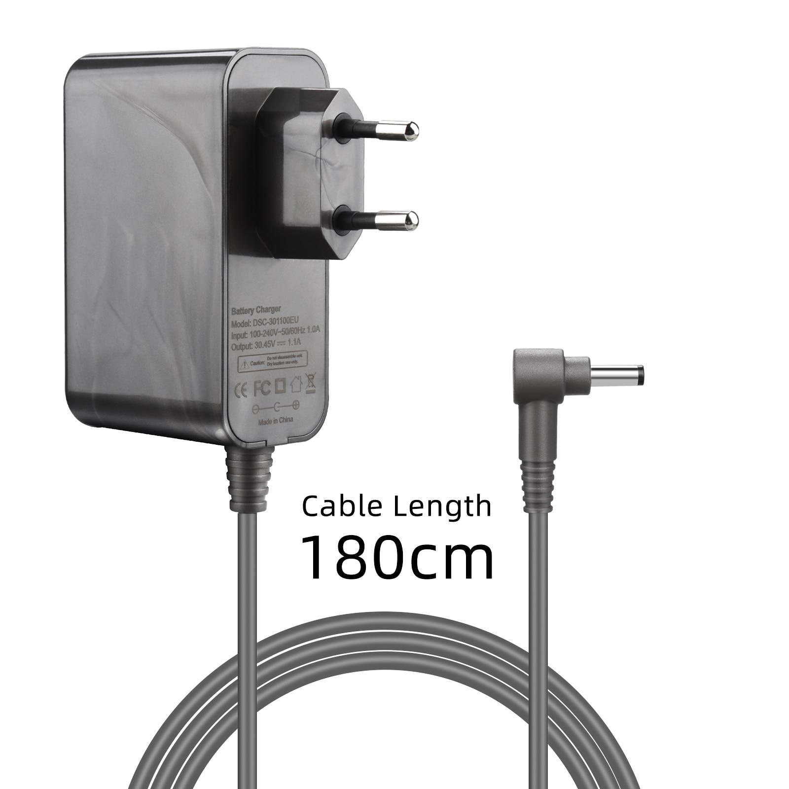 Зарядное устройство для Dyson V10 V11 пылесос 30,45 V / 1.1A пылесос адаптер питания для батареи штепсельная вилка ЕС