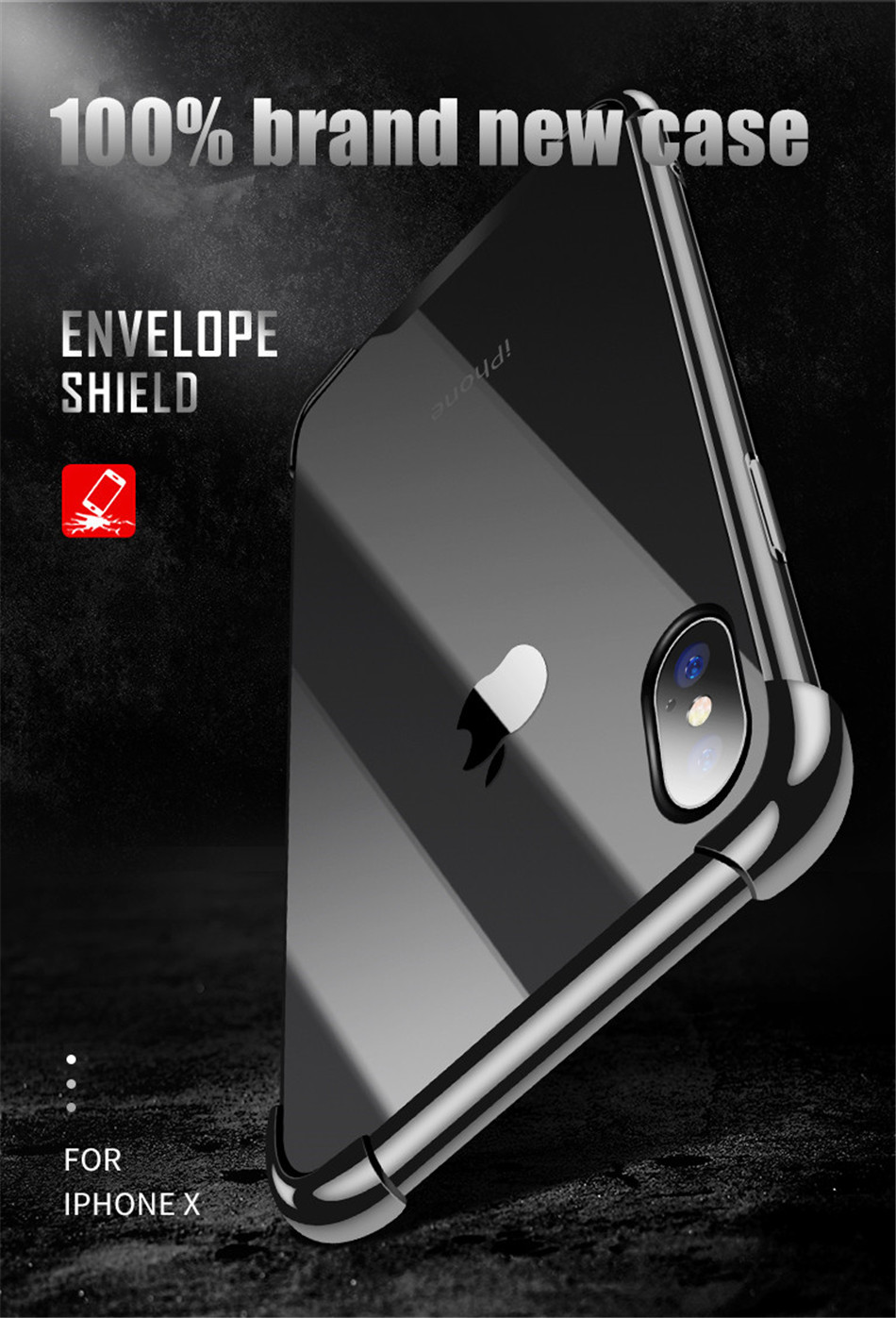 H54f2c1d20a414e51b45e05177831cbbe5 - USLION Shockproof Armor Clear Case For iPhone 11 Pro Max XS Max XR X 8 7 6 6s Plus 5 5s SE Transparent Phone Cases Airbag Cover