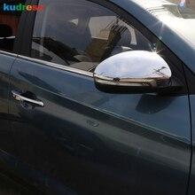 Для hyundai Tucson ABS хром блестящий Боковая дверь Зеркало заднего вида крыло, Крышка отделки салона авто аксессуары 2 шт
