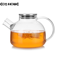 1000ml/1800ml קומקומי זכוכית עמיד בחום קומקום קר מים כד עם מכסה נירוסטה קונג פו תה סט ברור מיץ מיכל