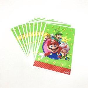 Image 5 - Trẻ Em Đảng Super Mario Bros Dùng Một Lần Khăn Trải Bàn Cốc Đĩa Ống Hút Khăn Ăn Mario Bros Sinh Nhật Bộ Bộ Đồ Ăn Tiếp Liệu