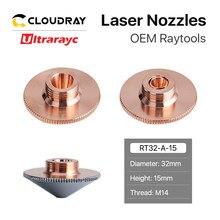 Ultrarayc głowica tnąca dysza laserowa pojedyncze podwójne chromowane warstwy D32 kaliber 0.8-6.0mm dla Raytools głowica laserowa