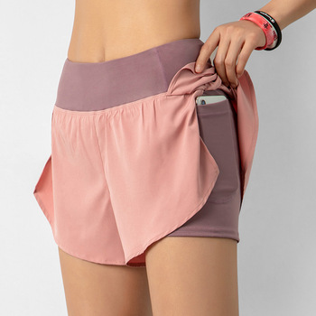 Biker Shorts Elastic Waist  Sexy Summer Quick-Drying Breathable Yoga Pants Women Pink