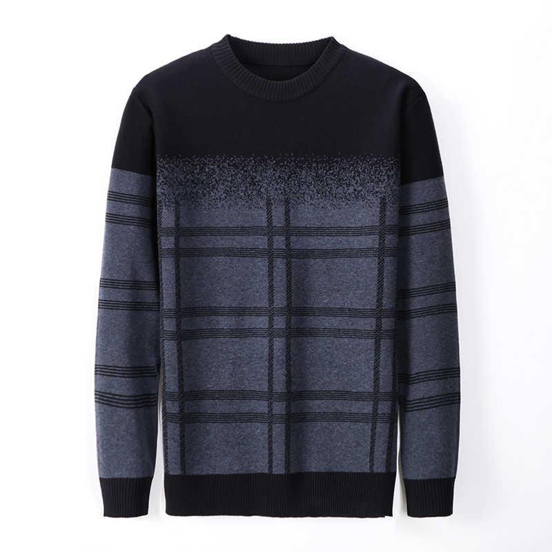 2021 새로운 패션 브랜드 스웨터 망 풀오버 두꺼운 슬림 맞는 점퍼 니트 모직 겨울 한국 스타일 캐주얼 의류 남자