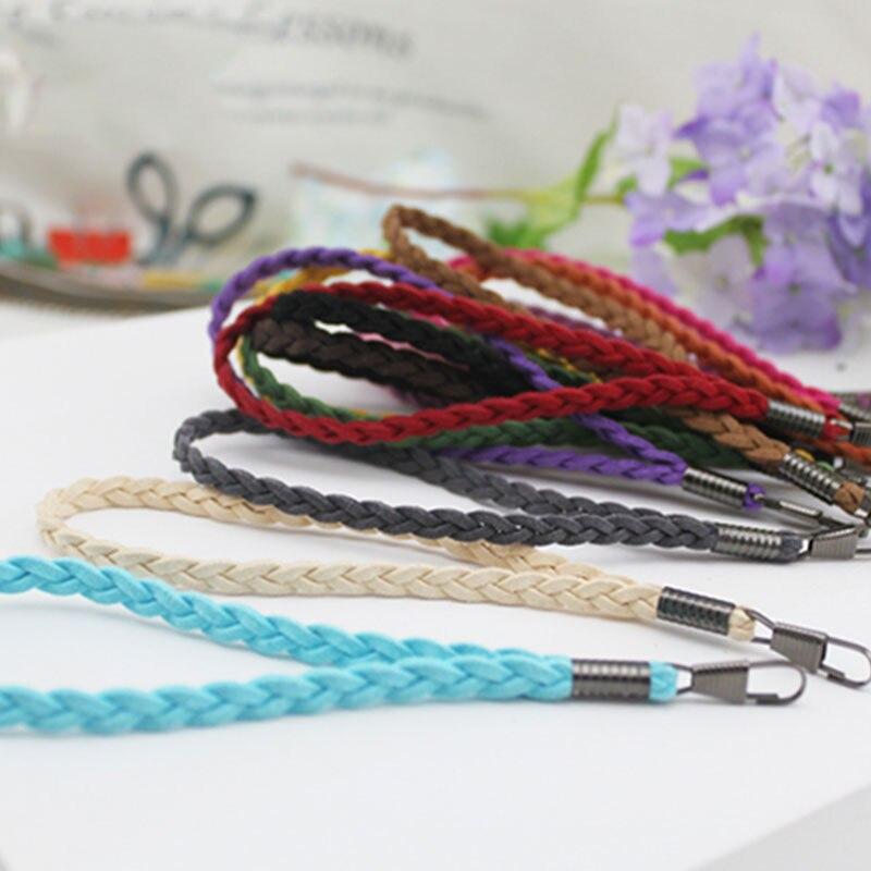 Solid Color Braided Wristlet Strap Quality Replacement Purse Strap Bag Strap Clutch Bag Strap Wallet Belt Protable Bag Handle