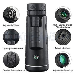 Image 2 - Telefoon Lens 40x Zoom Telescoop Monoculaire Super Lens Voor Telefoon Hd Camera Lentes Voor Iphone 6S 7 Xiaomi Meer mobiel Met Statief