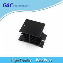 1pc Black Single Phase Solid State Relay SSR Aluminum Heat Sink Dissipation Radiator Newest Suitable for 10A-40A diy electronics(China)