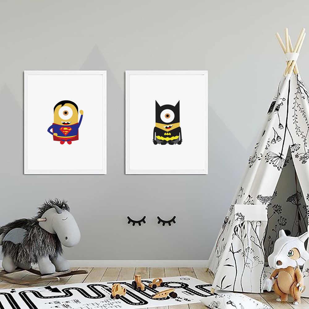 מארוול קומיקס ברזל איש באטמן גיבור קיר אמנות בד ציור נורדי והדפסי קיר תמונות תינוק ילדים חדר דקור