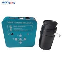 34MP Microscope Camera HDMI USB 1080P HD Industry Stereo Microscope Camera 60FPS Panasonic CMOS Trinocular Microscopio Adapter