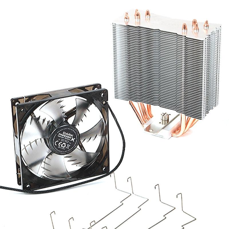 Dark Freezer X120 Intel 775/1155/1156/1150/1151/1366/2011/2011-v3/2066 - AMD AM2/AM2 +/AM3/AM3 +/AM4 Compatible processor Cooler 2
