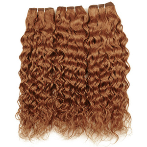 Image 5 - Ienvy Màu #30 Brasil Tóc Dệt Lưng Gừng Tóc Vàng Sóng Nước Bó Tóc Vàng Tóc Vàng Bó 1 3 4 Máy Tính Không Remy