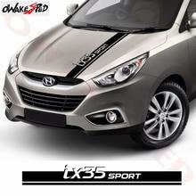 Car Bonnet Sport Stripes Decor Stickers For-Hyundai IX35 Racing Styling Auto Hood Cover Engine Sticker High Quality Vinyl Decals