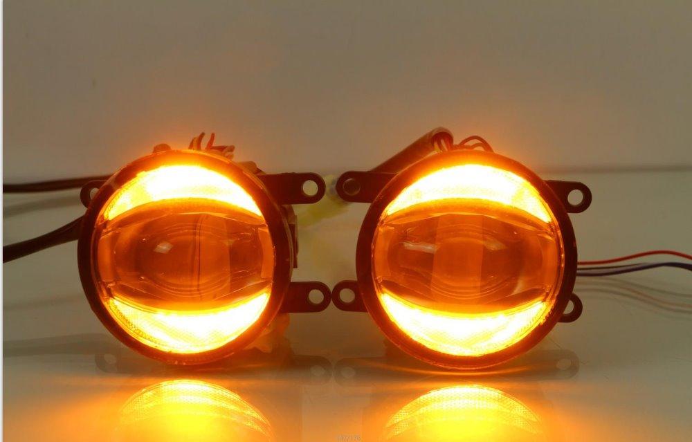 Osmrk светодиодные противотуманные фары + дневные ходовые огни для Mitsubishi pajero outlander asx l200 triton grandis pajero sport