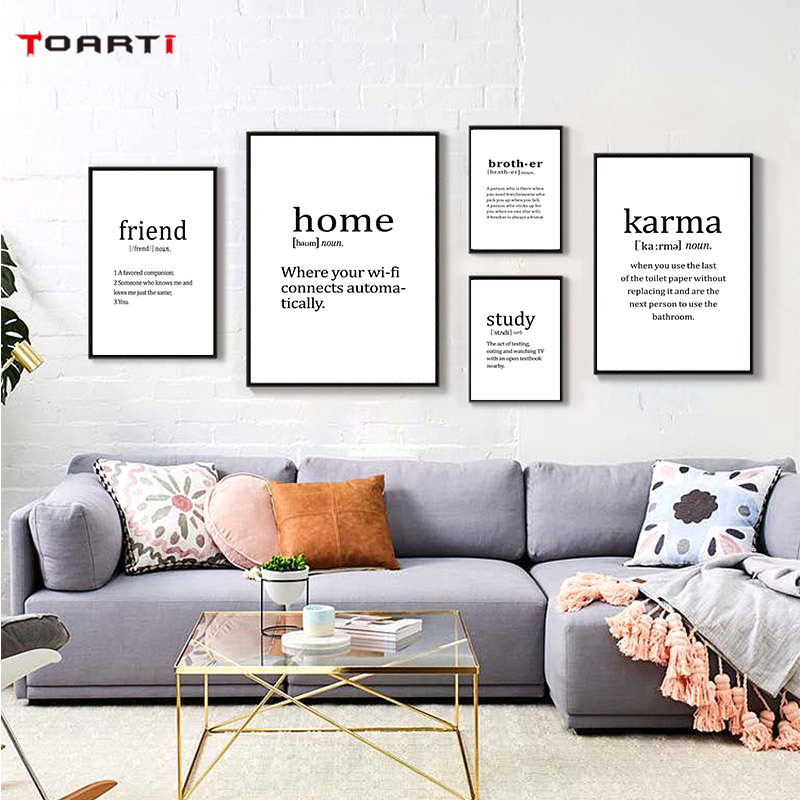 Modern Family Quote Prints Posters Home Letters Canvas Painting On The Wall For Living Room Bedroom House Decorative Art Picture