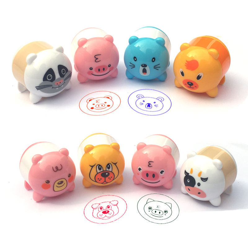 Cartoon Animals Stamps Children Toy Kids Seal For Scrapbooking Stamper DIY Cartoon Stamper Toys 2019 New Wholesale