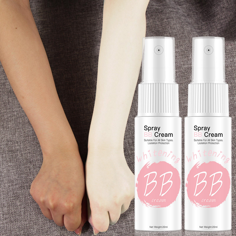 Spray BB Cream Concealer Brighten Whitening Moisturizing Base Face Foundation Makeup Beauty Skin Care image