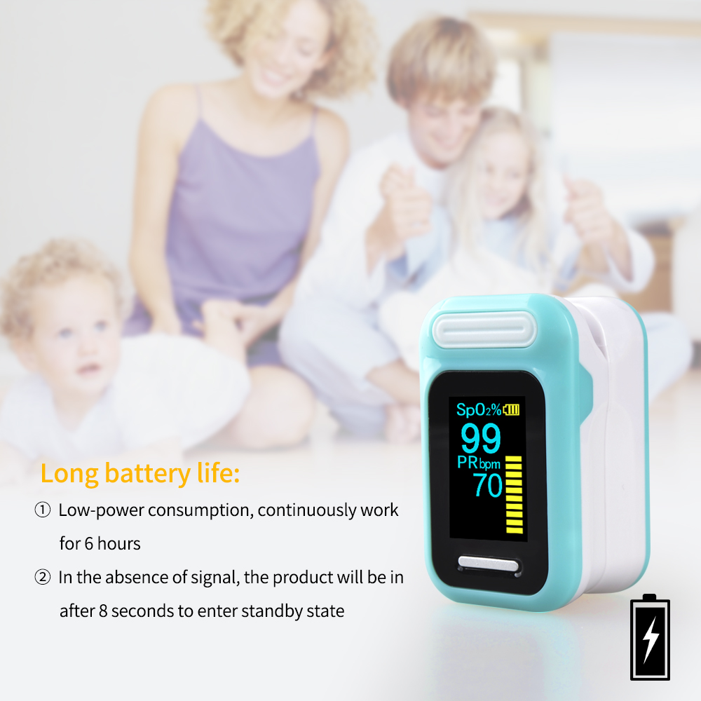 ELERA Finger Pulse Oximeter with OLED Display to calculate Blood Oxygen Saturation 9